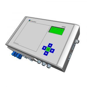 CPFE filterstyrning för textila spärrfilter av alla typer