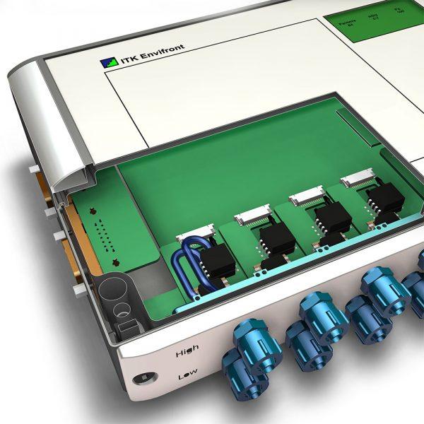 Närbild över integrerade tryckgivare för CPFE filterstyrning