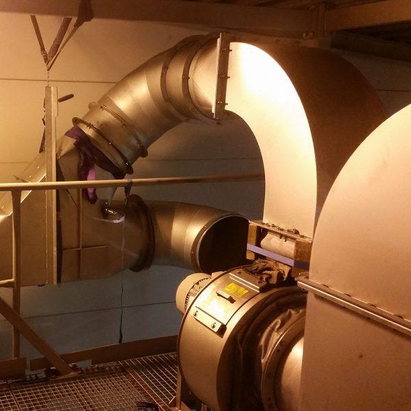 KACS-40 centrifugalskrubber rökgasfläkt