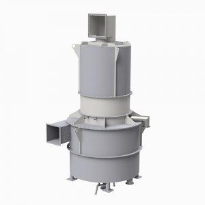 KACS-40 centrifugalskrubber med avvattningscyklon