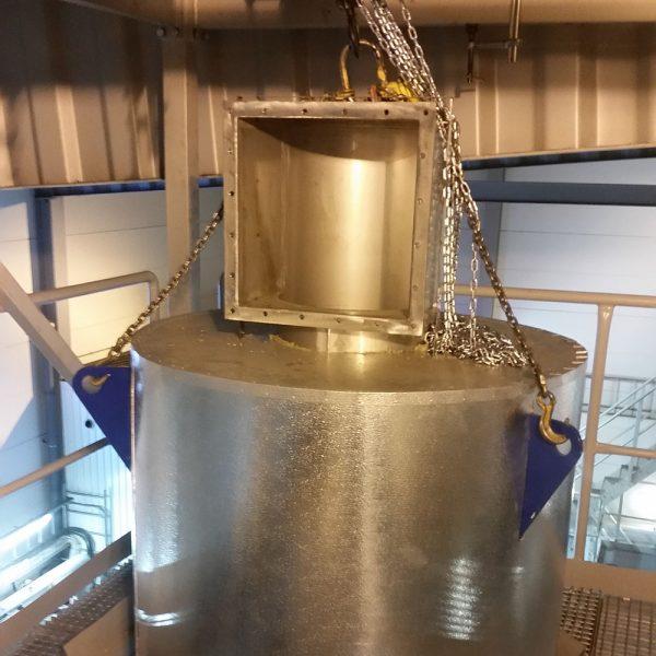 KACS-40 centrifugalskrubber skrubbertopp