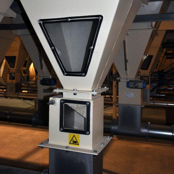 Installerade klaffspjäll SSKA i airlaidprojekt