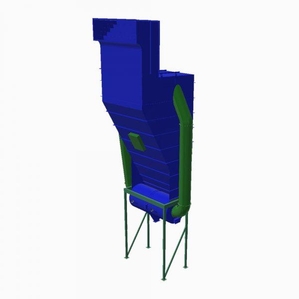Lamellavskiljare PDLA renderad modell