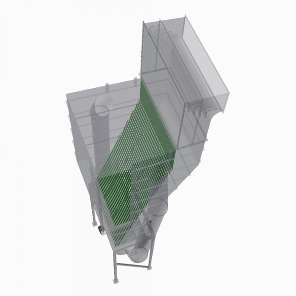 Lamellavskiljare PDLA transparent renderad modell