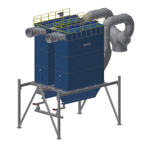 Lösning för två parallella slangfilter PFSC till ENA Energi utloppssidan