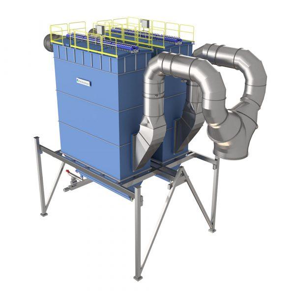 Lösning för två parallella slangfilter PFSC till ENA Energi inloppssidan