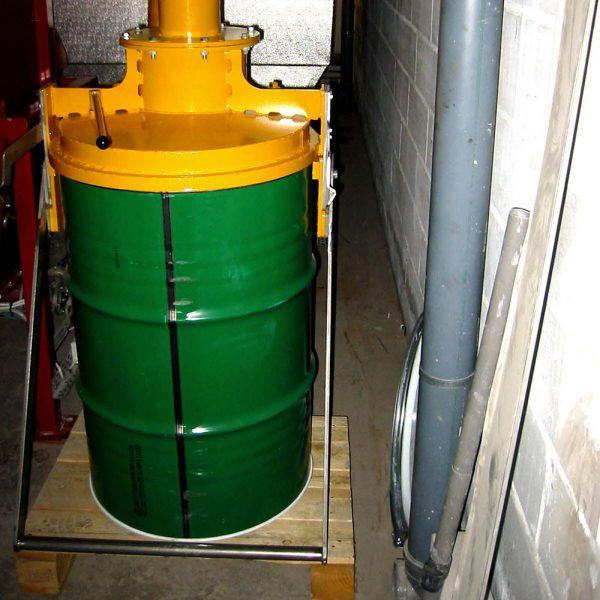 Stoftkärlsanslutning SAL med stoftkärl installerad hos kund