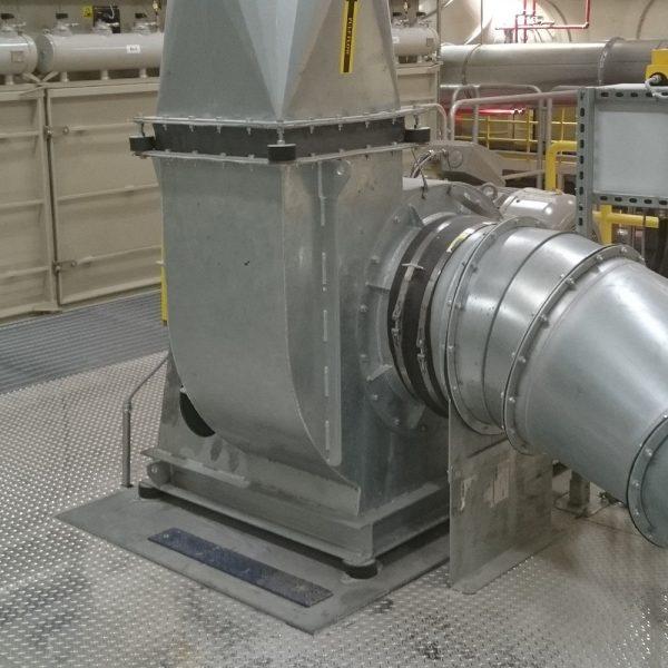 Centrifugalfläkt installerad på airlaidanläggning