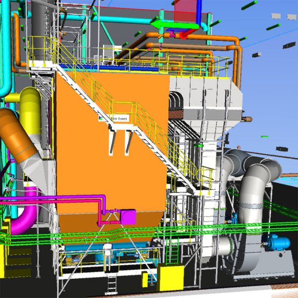 Projektering av filterhus i processindustri med filter, värmeväxlare, kanalsystem och fläktar