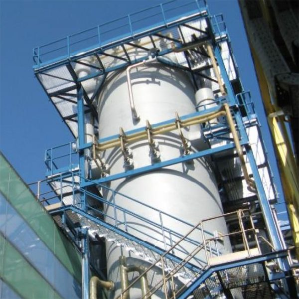 Vått elfilter Electroclean installerat på kemifabrik