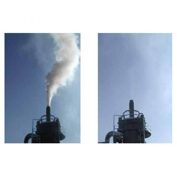 Före och efter installation av vått elfilter Electrocelan